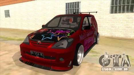 Toyota Avanza R9 Exhaust Nishikino Maki Itasha para GTA San Andreas