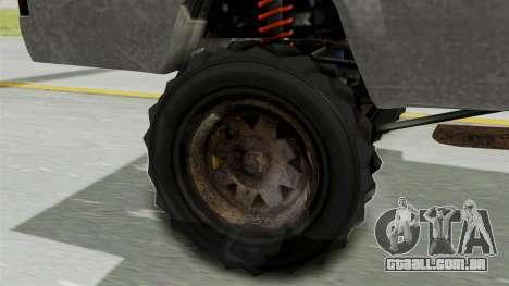 GTA 5 Karin Technical Machinegun para GTA San Andreas traseira esquerda vista