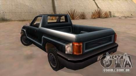GTA III Bobcat Original Style para GTA San Andreas traseira esquerda vista