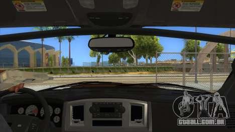 Dodge Ram SRT DES 2012 para GTA San Andreas vista interior