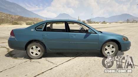 GTA 5 Chevrolet Impala vista lateral esquerda