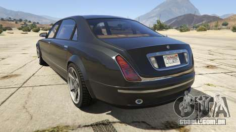 GTA 5 GTA 4 Enus Cognoscenti traseira vista lateral esquerda