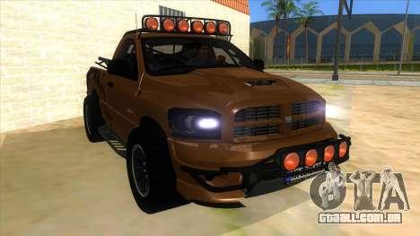 Dodge Ram SRT DES 2012 para GTA San Andreas vista traseira