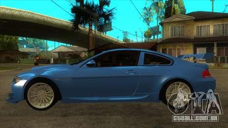 BMW M6 Full Tuning para GTA San Andreas esquerda vista