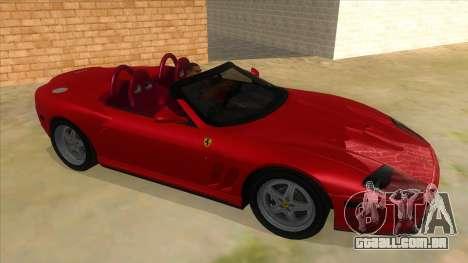 Ferrari 550 Barchetta Pinifarina US Specs 2001 para GTA San Andreas vista traseira