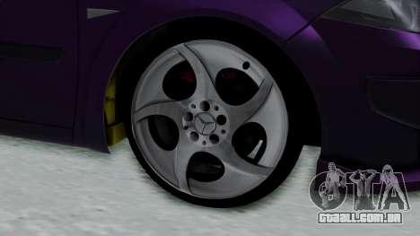 Renault Megane II para GTA San Andreas traseira esquerda vista