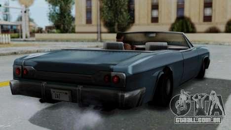 Blade Beach Bug para GTA San Andreas esquerda vista