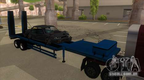 Trailer with Hydaulic Ramps para GTA San Andreas esquerda vista