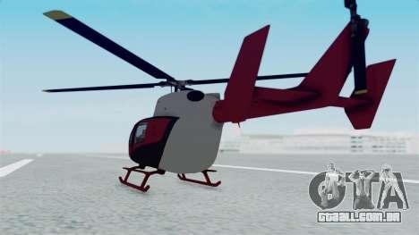 GTA 5 Super Volito para GTA San Andreas esquerda vista