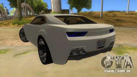 Chevrolet Camaro DOSH tuning MQ para GTA San Andreas traseira esquerda vista