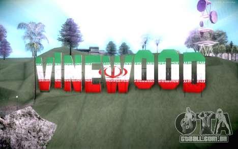 New Vinewood colors Iran flag para GTA San Andreas