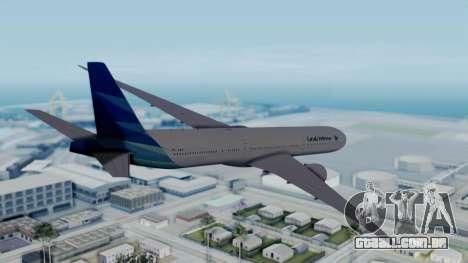 Boeing 777-9U3(X) Garuda Indonesia para GTA San Andreas esquerda vista