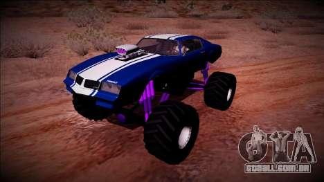 GTA 5 Imponte Phoenix Monster Truck para GTA San Andreas vista traseira