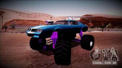 GTA 5 Imponte Phoenix Monster Truck para GTA San Andreas traseira esquerda vista