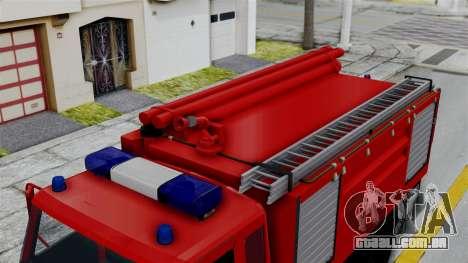 FAP Serbian Fire Truck para GTA San Andreas traseira esquerda vista