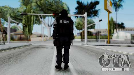 GIGN from Rainbow Six Siege para GTA San Andreas terceira tela