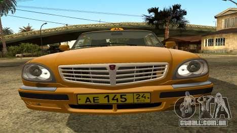 GAZ 31105 Volga Táxi FIV para vista lateral GTA San Andreas