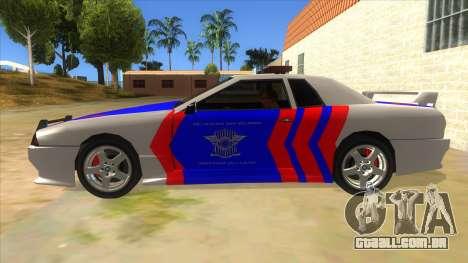 Elegy NR32 Police Edition White Highway para GTA San Andreas esquerda vista