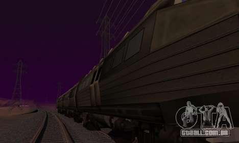 Batman Begins Monorail Train v1 para GTA San Andreas traseira esquerda vista
