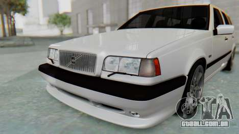 Volvo 850R 1997 Tunable para GTA San Andreas vista inferior