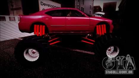 2006 Dodge Charger SRT8 Monster Truck para o motor de GTA San Andreas