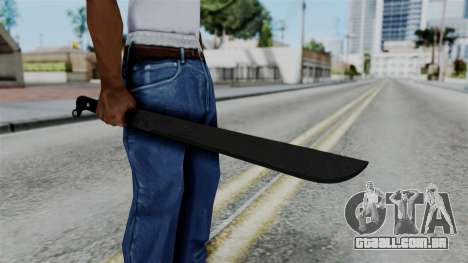 No More Room in Hell - Machete para GTA San Andreas