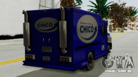 Chevrolet C30 Furgon Stylo Colombia para GTA San Andreas esquerda vista