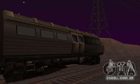 Batman Begins Monorail Train v1 para GTA San Andreas esquerda vista