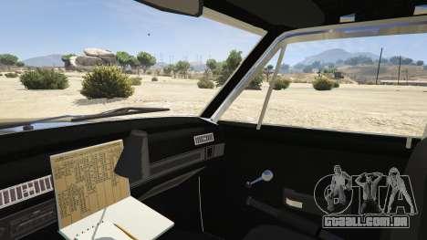 GTA 5 1972 AMC Matador LAPD vista lateral direita