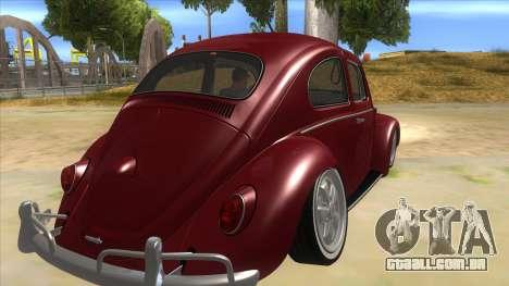 Volkswagen Beetle Aircooled V2 para GTA San Andreas vista direita