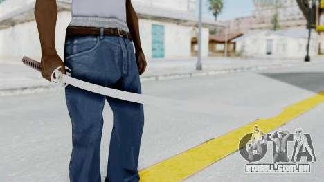 Samurai Sword para GTA San Andreas terceira tela