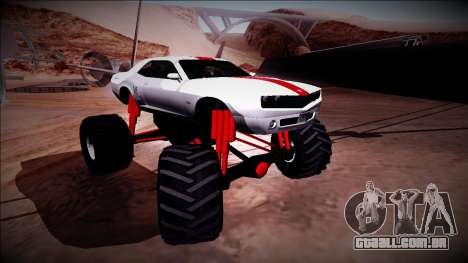 GTA 5 Bravado Gauntlet Monster Truck para GTA San Andreas vista superior
