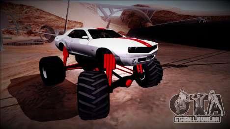 GTA 5 Bravado Gauntlet Monster Truck para GTA San Andreas vista superior