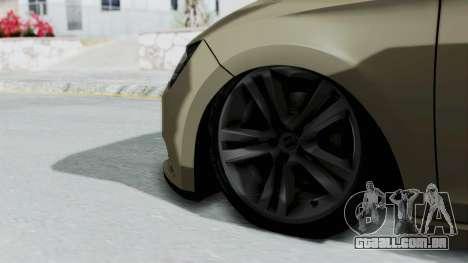Seat Leon para GTA San Andreas traseira esquerda vista