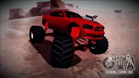 2006 Dodge Charger SRT8 Monster Truck para vista lateral GTA San Andreas