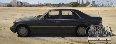 GTA 5 Mercedes-Benz S600 (W140) [Replace] v1.1 vista lateral esquerda