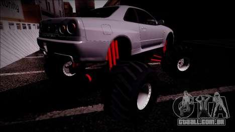 Nissan Skyline R34 Monster Truck para GTA San Andreas interior