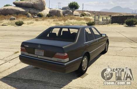 GTA 5 Mercedes-Benz S600 (W140) [Replace] v1.1 traseira vista lateral esquerda