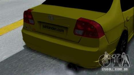 Honda Accord Vtec2 Stock para GTA San Andreas vista traseira