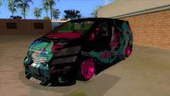 Toyota Vellfire Miku Pocky Exhaust v2 FIX para GTA San Andreas