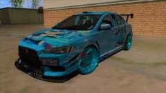 Mitsubishi Lancer Evolution X Koi-chan Itasha para GTA San Andreas