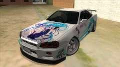 Nissan Skyline GT-R R34 Hatsune Miku