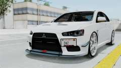 Mitsubishi Lancer Evolution X GSR Full Tunable para GTA San Andreas