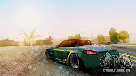 Porsche Boxster GTS LB Work para GTA San Andreas esquerda vista
