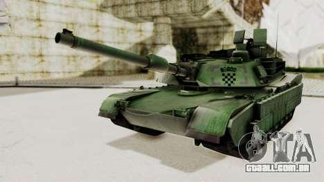 M1A2 Abrams Woodland Croatian para GTA San Andreas traseira esquerda vista