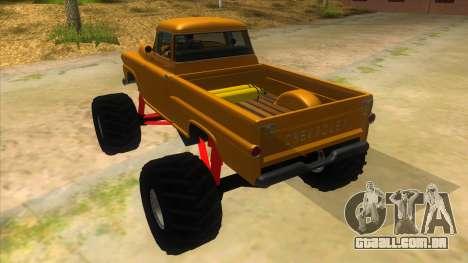1958 Chevrolet Apache Monster Truck para GTA San Andreas