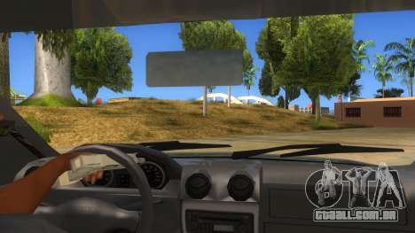 Dacia Logan V2 Final para GTA San Andreas vista interior