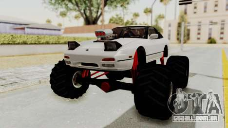 Nissan 240SX Monster Truck para GTA San Andreas vista direita