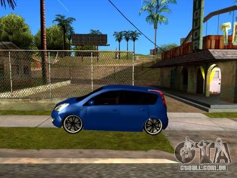 Nissan Note KURMIN StreetRacer para GTA San Andreas traseira esquerda vista
