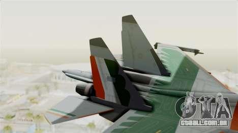 SU-30 MKI para GTA San Andreas traseira esquerda vista